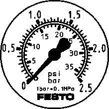 Фланцевый манометр Festo FMA-50-2,5-1/4-EN