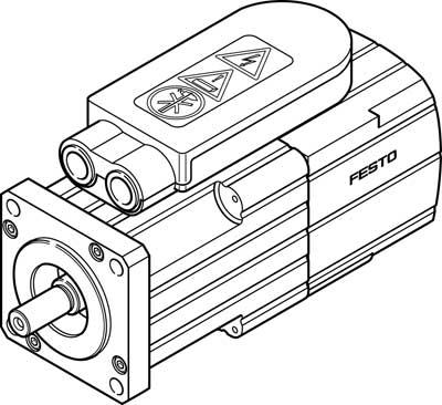 Серводвигатель Festo EMMS-AS-55-S-LS-TSB-S1