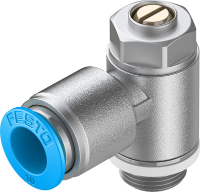 Дроссель с обратным клапаном Festo GRLA-1/4-QS-10-D
