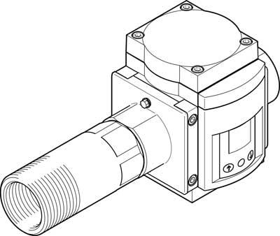 Датчик расхода Festo SFAM-90-15000L-TG112-2SV-M12
