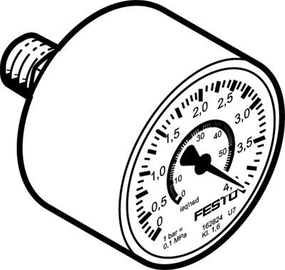 Прецизионный манометр Festo MAP-40-4-1/8-EN