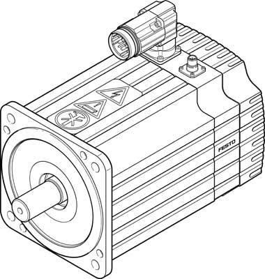 Серводвигатель Festo EMMS-AS-190-MK-HS-AMB-S1