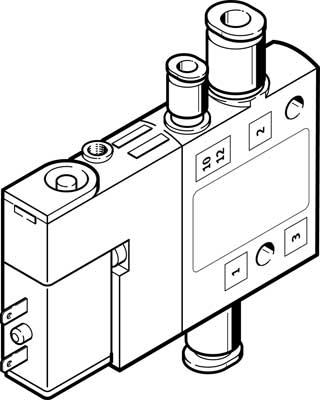 Распределитель с электроуправлением Festo CPE10-M1BH-3OLS-QS-6