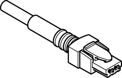 Штекерная розетка с кабелем Festo NEBV-HSG2-P-0.5-N-LE2