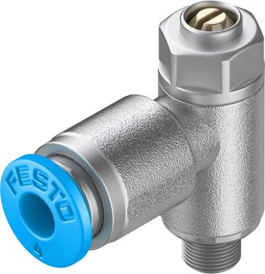 Дроссель с обратным клапаном Festo GRLA-M5-QS-4-D