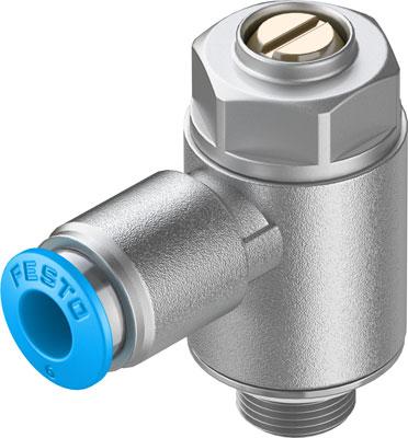 Дроссель с обратным клапаном Festo GRLA-1/8-QS-6-MF-D