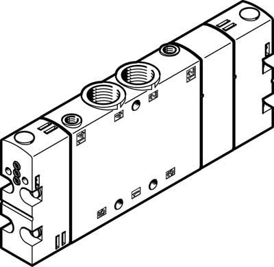 Базовый распределитель Festo CPE18-P1-5/3GS-1/4