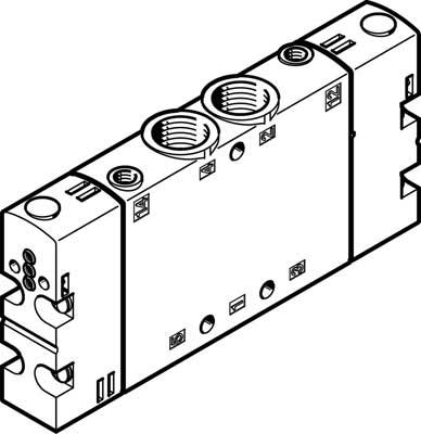 Базовый распределитель Festo CPE18-P1-5J-1/4