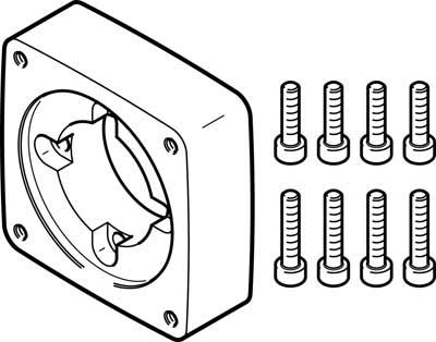 Фланец электродвигателя Festo EAMF-A-44C-60P