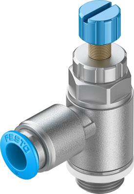 Дроссель с обратным клапаном Festo GRLA-1/4-QS-6-RS-D