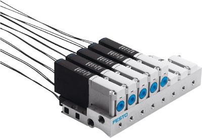 Распределитель с электроуправлением Festo MHA2-MS1H-5/2-2-K