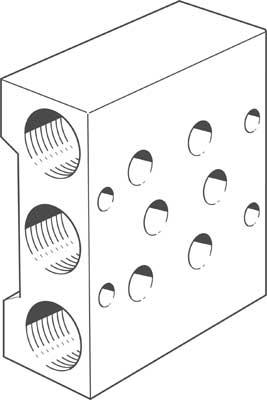 Плита для блочного монтажа Festo PRS-1/8-2-B