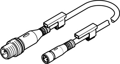 Соединительный кабель Festo NEBU-M8G3-K-0.5-M12G3