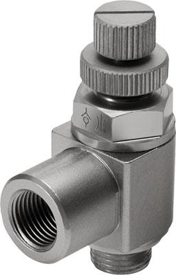 Дроссель с обратным клапаном Festo GRLA-1/4-RS-B