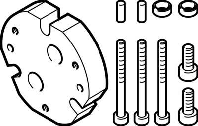 Адаптерная плита для трехточечного захвата Festo DHAA-G-Q11-35-B7-50