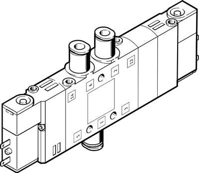 Распределитель с электроуправлением Festo CPE14-M1BH-5/3E-QS-6