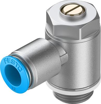 Дроссель с обратным клапаном Festo GRLA-1/2-QS-12-D