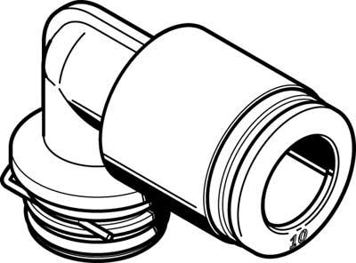 Картридж цанговый угловой Festo QSPLK18-10 (комплект 10 шт)