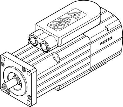 Серводвигатель Festo EMMS-AS-55-M-LS-TMB