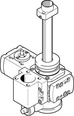 Поворотный подъемный модуль Festo EHMB-20-100