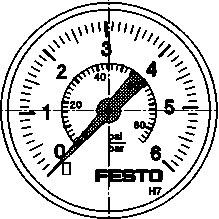Прецизионный манометр Festo MAP-40-6-1/8-EN