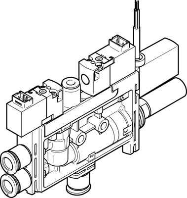 Генератор вакуума Festo OVEL-5-H-10-PQ-VQ4-UA-C-A-V1V-H3