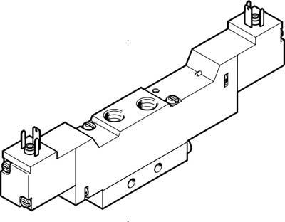 Распределитель с электроуправлением Festo MEBH-5/3B-1/8-B-230AC