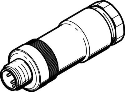 Штекер Festo NECU-S-M12G4-D-IS