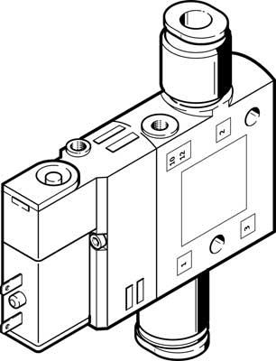 Распределитель с электроуправлением Festo CPE14-M1BH-3GL-QS-8
