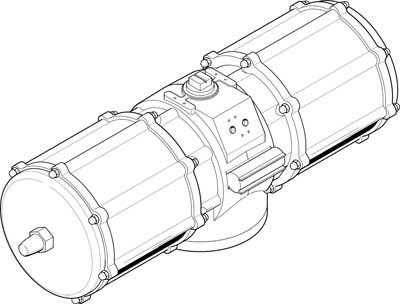 Неполноповоротный привод Festo DAPS-8000-090-R-F25