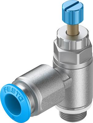 Дроссель с обратным клапаном Festo GRLA-1/8-QS-8-RS-D