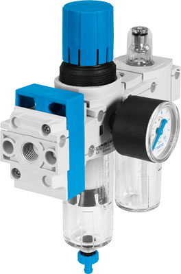Комбинация блоков подготовки воздуха Festo FRC-1/4-DB-7-MINI-KC