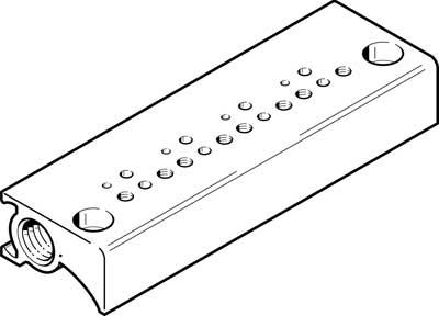 Плита для блочного монтажа Festo MHP1-P6-2