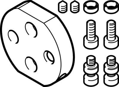 Адаптерная плита для стандартного углового захвата Festo DHAA-G-Q11-20-B2/B3-32