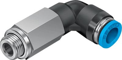 Фитинг угловой резьбовой, удлиненный Festo QSLL-G1/8-4-100 (комплект 100 шт)
