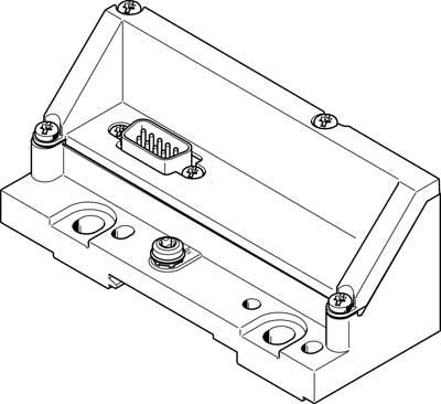 Торцевая плита Festo VMPAL-EPL-SD9-IP40