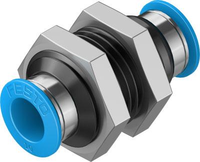Муфта цанговая для панельного монтажа прямая Festo QSS-10-50 (комплект 50 шт)