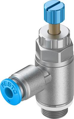 Дроссель с обратным клапаном Festo GRLA-1/8-QS-4-RS-D