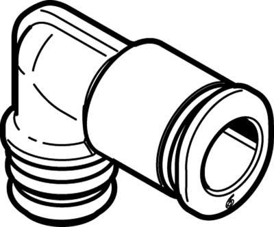 Картридж цанговый угловой Festo QSPLKG10-6 (комплект 10 шт)