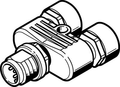 Тройник с цанговым зажимом Festo NEDU-L2R1-V10-M12G5-M12G5