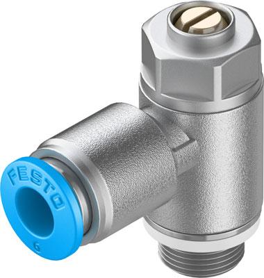 Дроссель с обратным клапаном Festo GRLZ-1/8-QS-6-D