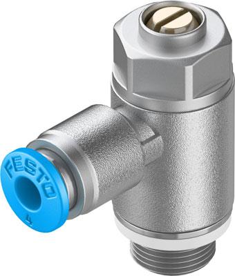 Дроссель с обратным клапаном Festo GRLA-1/8-QS-4-D