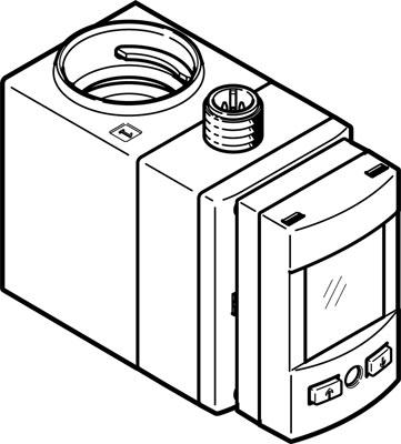 Датчик расхода Festo SFAW-100-X-E-PNLK-PNVBA-M12