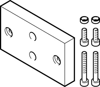 Адаптерная плита для параллельного захвата Festo DHAA-G-Q11-16-B6-14-60/80