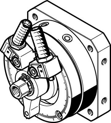 Неполноповоротный привод Festo DSM-32-270-P1-FW-A-B