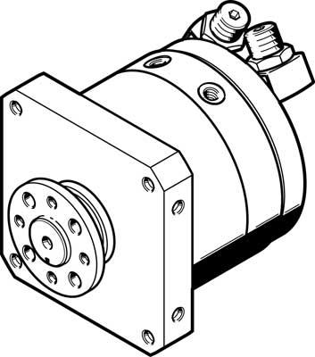 Неполноповоротный привод Festo DSM-T-63-270-P-FW-A-B