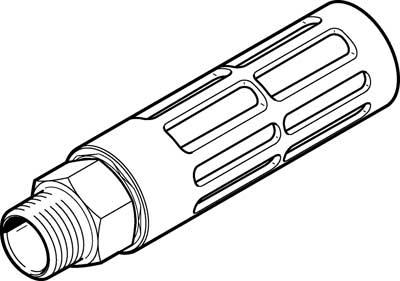 Глушитель алюминиевый резьбовой Festo U-3/4-B