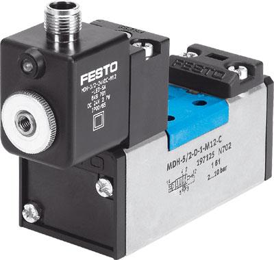 Распределитель с электроуправлением Festo MDH-5/2-D-1-FR-M12-C