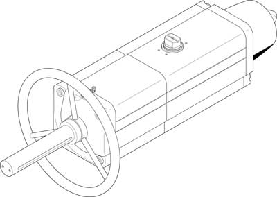 Неполноповоротный привод Festo DAPS-0720-090-RS4-F12-MW