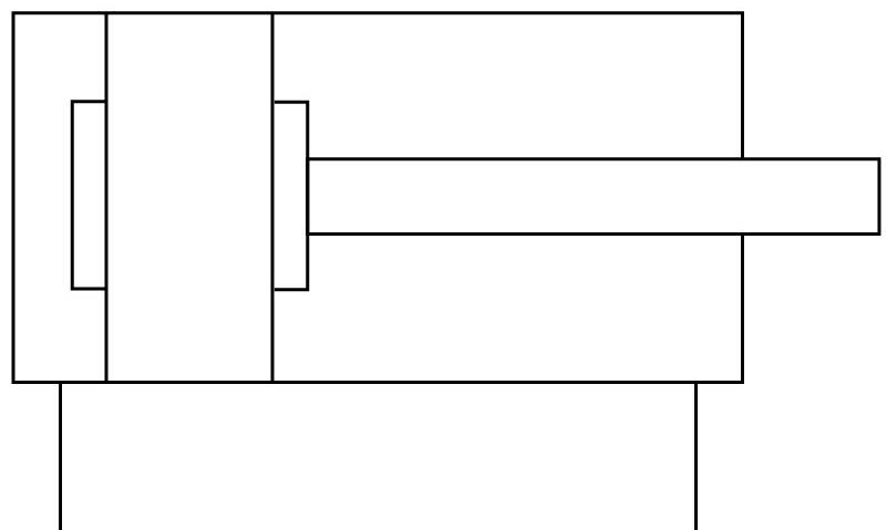 Короткоходовой цилиндр Festo 188274 ADVC-50-20-A-P пневмосхема